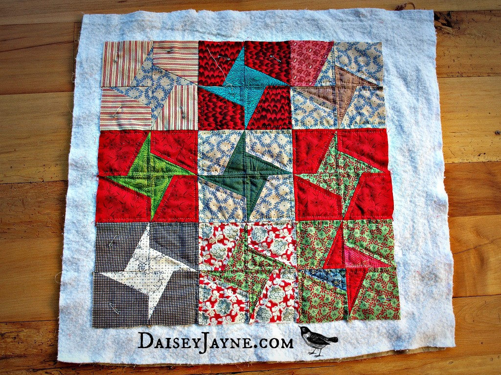 A lovely year of almost finishes…the mini quilt…