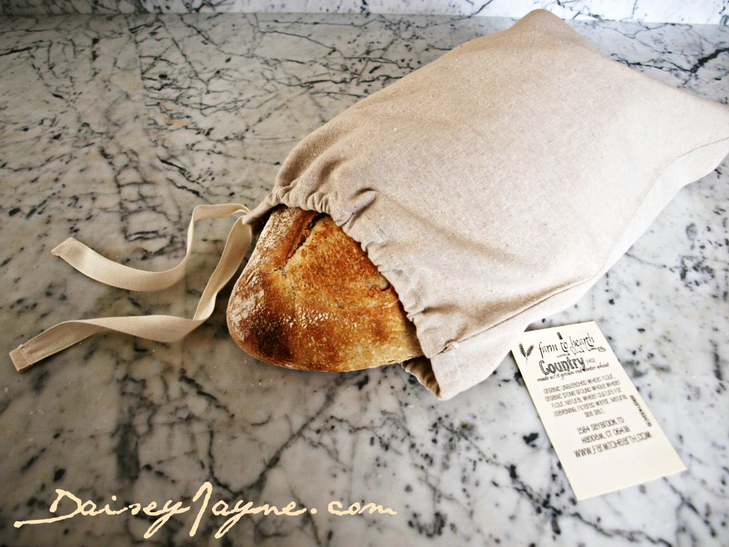 A fresh baked loaf and a bag to keep it in…