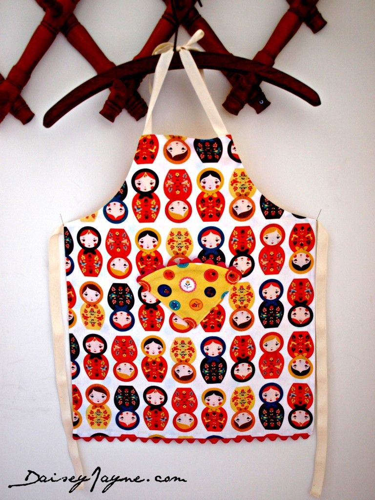 One of the cutest things I've ever made, a little girls apron….