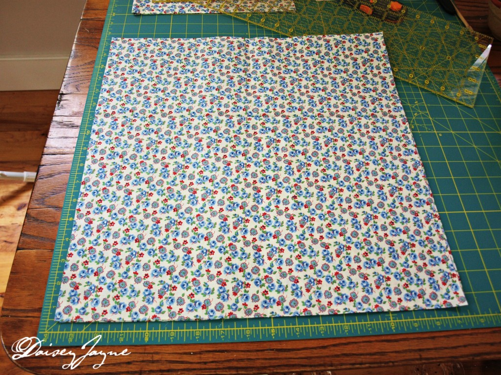 "17"" square of cotton fabric"