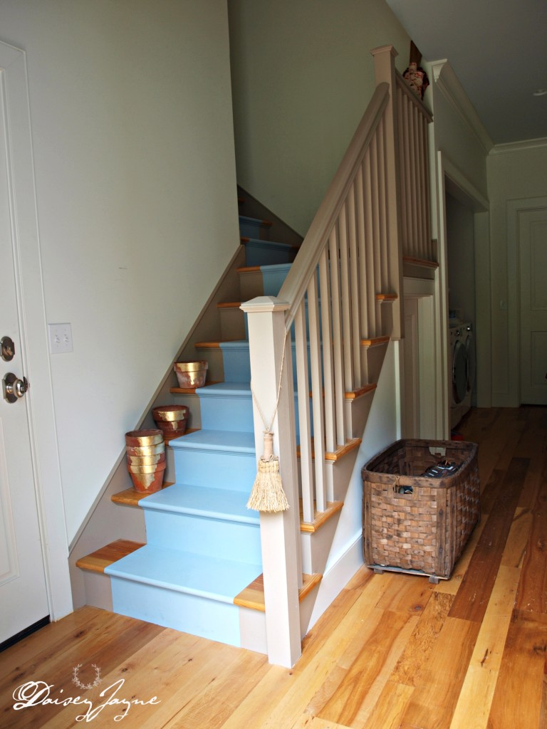 painted stairs Louis Blue