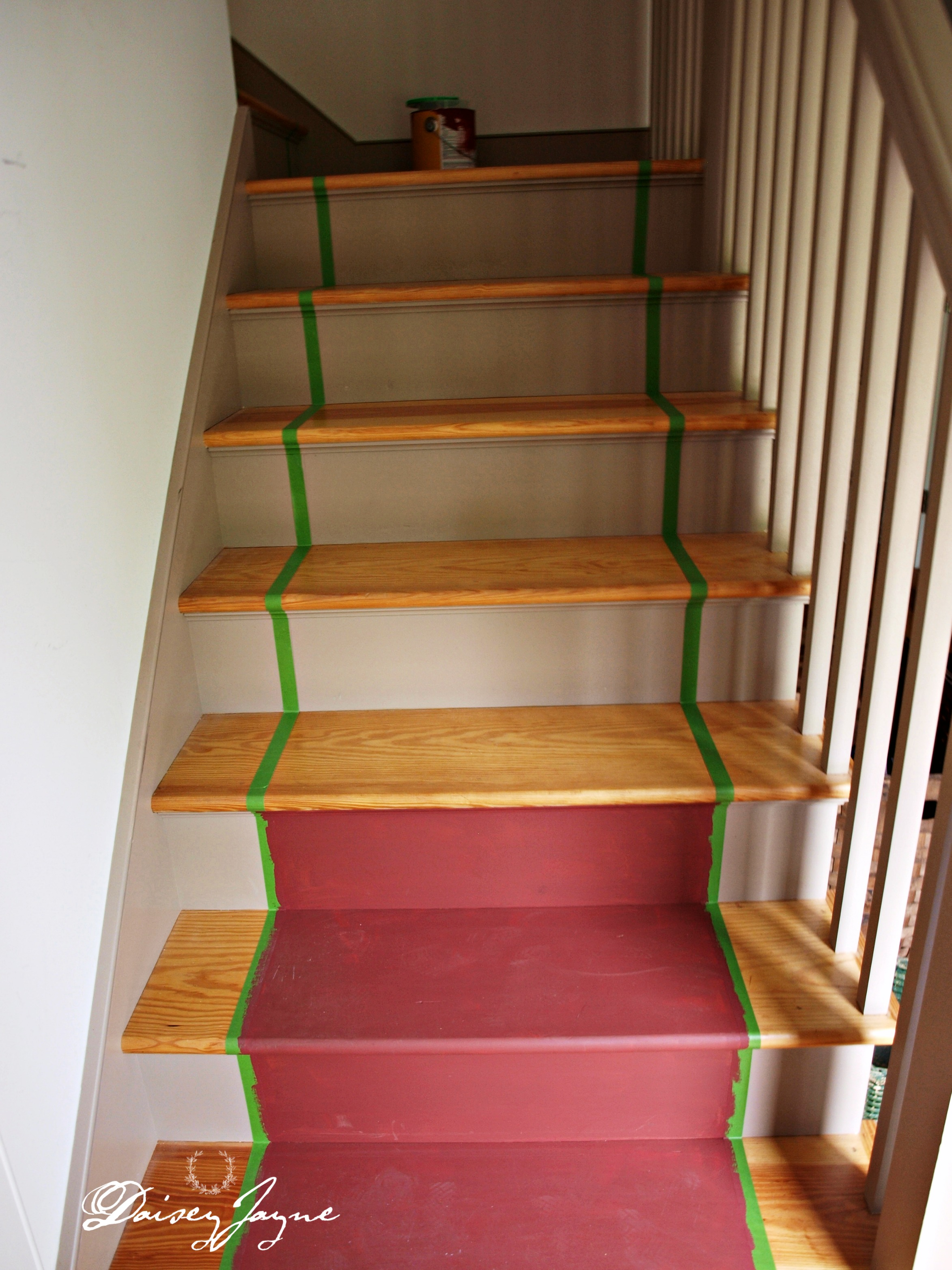 The Bonus Room Stairs Painted Daisey Jayne