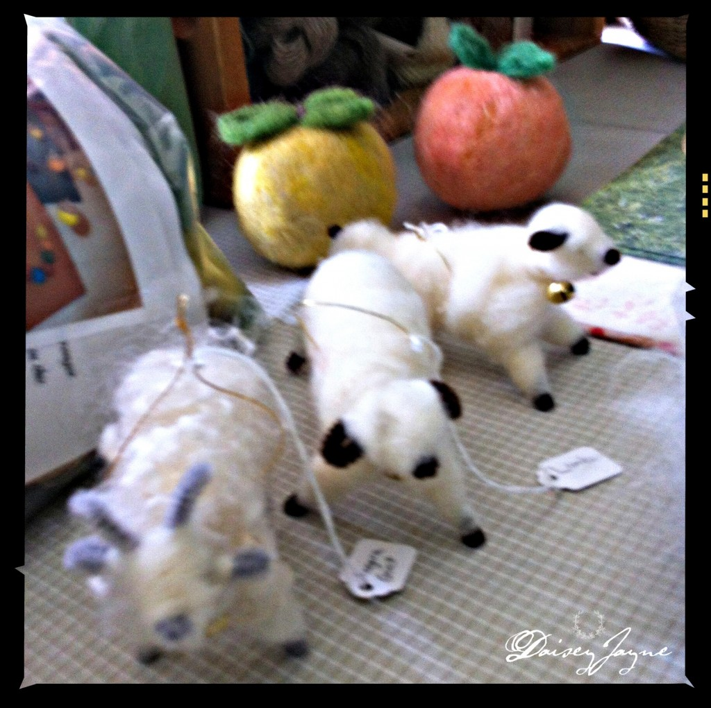 cute goats sheep ornaments