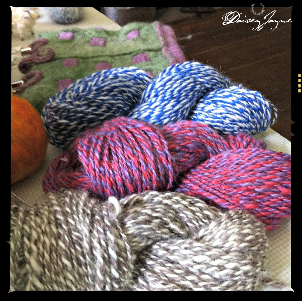 gorgeous yarn from Cold Goats Farm!